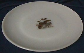 Fire King Game Birds Ruffed Grouse Dinner Plate