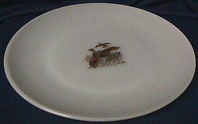 Fire King Game Birds Ruffed Grouse Dinner Plate
