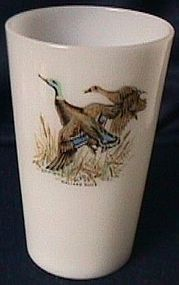 Fire King Game Birds Tea Tumbler Mallard Duck