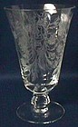 Fostoria Heather Crystal Footed Ice Tea
