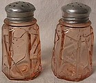 Modernistic Deco Pink Shaker Pair