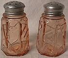 Modernistic Deco Pink Shaker Pair