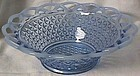 Laced Edge Blue Opalescent Bowl Imperial Glass Company