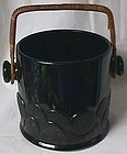 Black Macaroon Big Cookies Jar Fenton Glass Company