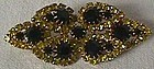 Pin with Yellow and Black Stones
