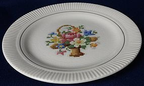 Victory Basket Bread and Butter Plate Salem China