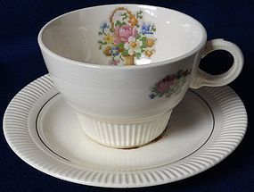 Victory Basket Cup and Saucer Salem China