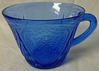 Royal Lace Cobalt Cup Hazel Atlas Glass Co