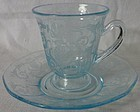 Fostoria Versailles Azure After Dinner Cup and Saucer