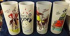 Gay 90's Frosted Tumblers Set of 4