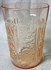 Sharon Pink Water Tumbler Federal Glass Company