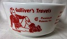Gulliver's Travels Snoop & Sneak Red Bowl Hazel Atlas