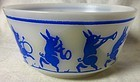 Looney Tunes Pigs Bowl Blue Hazel Atlas Glass Company