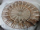 Old Cafe Pink Dinner Plate Hocking Glass Company