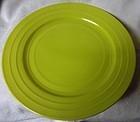 Moderntone Chartreuse Sherbet Plate Hazel Atlas Glass