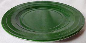 Moderntone Green Sherbet Plate Hazel Atlas Glass