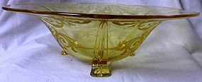 Versailles Topaz Footed Bowl Fostoria Glass Company