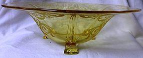 Versailles Topaz Footed Bowl Fostoria Glass Company