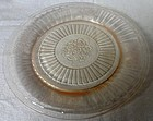 Mayfair Pink Round Sherbet Plate Hocking Glass Company