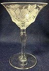 American Beauty Crystal Saucer Champagne Morgantown