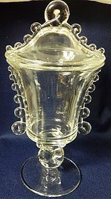 Lariat Crystal Urn and Cover Heisey Glass Company