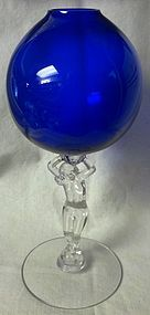 Statuesque Royal Blue Ivy Ball Cambridge Glass Company