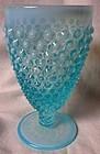 Hobnail Blue Opalescent Ice Tea Tumbler Fenton Glass