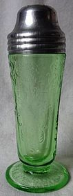 Florentine Number 2 Green Shaker Hazel Atlas Glass