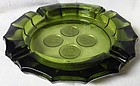 Coin Olive Green 4 Coin Ashtray Fostoria Glass Company