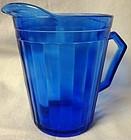 Aurora Cobalt Creamer Hazel Atlas Glass Company