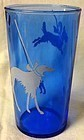 Leased Afghan Hound & Scottie Dog Tumbler Ritz Blue
