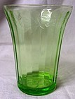 Cherry Blossom Green Flat Water Tumbler Jeannette Glass