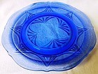 Royal Lace Cobalt Luncheon Plate Hazel Atlas Glass