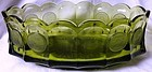 Coin Olive Green Oval Bowl Fostoria Glass Company