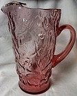 "Driftwood Heather 10"" Pitcher Seneca Glass Company"