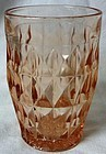"Windsor Pink Tumbler 5"" 12 oz Ice Tea Jeannette Glass"
