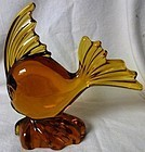 Angel Fish Amber Viking Glass Company