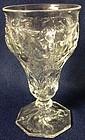 Rock Crystal Goblet Mc Kee Glass Company