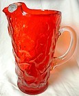 "Driftwood Red Pitcher 10"" with Crystal Handle Seneca"