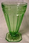 Adam Green Ice Tea Tumbler Jeannette Glass Company
