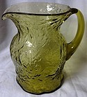 Crinkle Ockner Pitcher Topaz Morgantown Glass