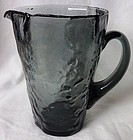 Crinkle Martini Pitcher Smoke Morgantown Glass Company