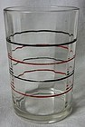 "Red & Black Band Swanky Swig 3 3/8"" Tumbler"