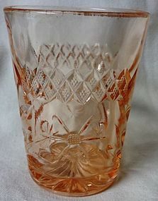 Floral and Diamond Band Pink Water Tumbler