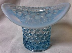 Hobnail Blue Opalescent Hat Duncan Miller Glass