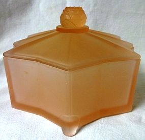 Lotus Pink Frosted Powder Jar 5.75""