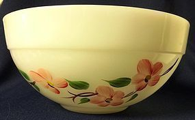 "Peach Blossom Mixing Bowl 7.5"" Colonial Kitchen Fire King"