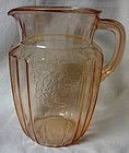 "Mayfair Pink Pitcher 8"" 60 oz Hocking Glass Company"