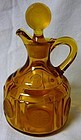 Coin Amber Oil with Stopper 7 oz Fostoria Glass Company