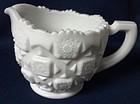 Quilt Milkglass Creamer Westmoreland Glass Company